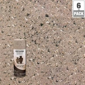 Rust-Oleum American Accents 12 oz. Stone Pebble Textured Spray Paint (6-Pack) 7995830 at The Home Depot - Mobile