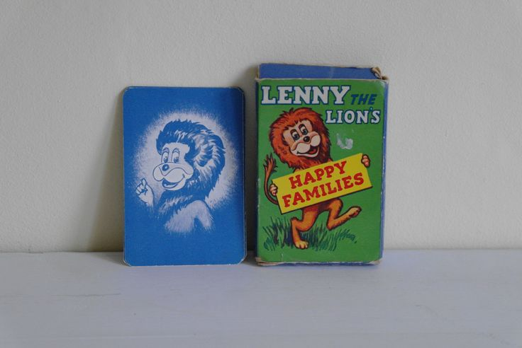 Vintage Lenny the Lion Happy Families Card Game by Ariel - Complete by alltheseprettythings on Etsy  #vintagegames #playingcards #lennythelion