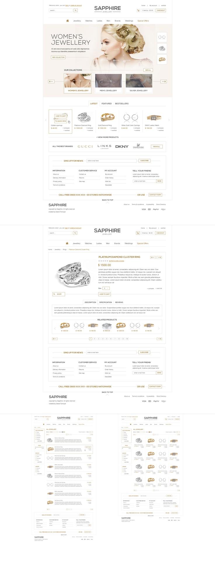 Sapphire jewellery by ~davidpstone on deviantART #design #web #webdesign #layout #site #website #www #ecommerce #e-commerce #commerce #online #shop #store #fashion #clothes #clothing #winter #wardrobe
