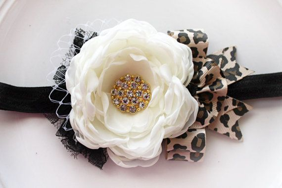 Cheetah print headband by JensBowdaciousBows on Etsy, $14.50