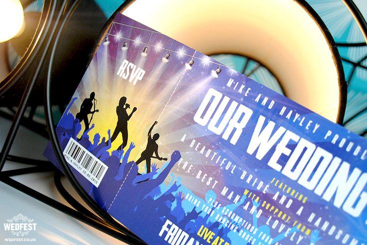 concert gig tickets wedding invitations