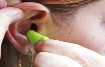 Demonstrate the challenges of hearing loss by introducing ear plugs at your next dinner party!