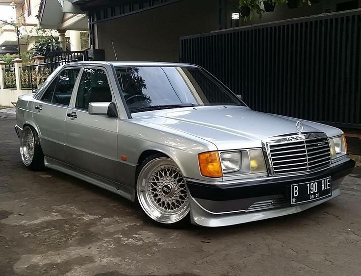 #Mercedes_Benz 190 #W201 #BBS_Wheels #Old_School #Slammed
