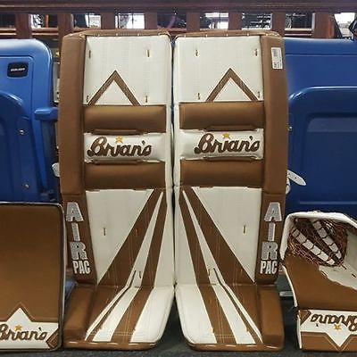 Leg Pads 79764: New Brian S Heritage Hockey Goalie Pads, Blocker And Catcher. -> BUY IT NOW ONLY: $3099.99 on eBay!