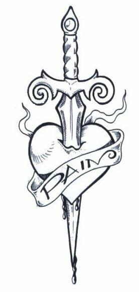 Tattoo heart dagger ink 30 ideas
