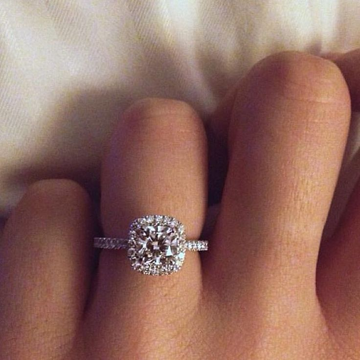 Engagement Ring | The gorgeous @TarrynKrysten showing off her rock! Congratulations!