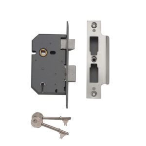 Yale 76mm Chrome Effect 5 Lever Mortice Lock Yale 76mm Chrome Effect 5 Lever Mortice Lock