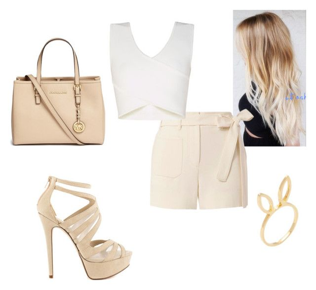 """""""Untitled #96"""" by elleeli ❤ liked on Polyvore featuring Jacquie Aiche, Helmut Lang, BCBGMAXAZRIA, ALDO and Michael Kors"""