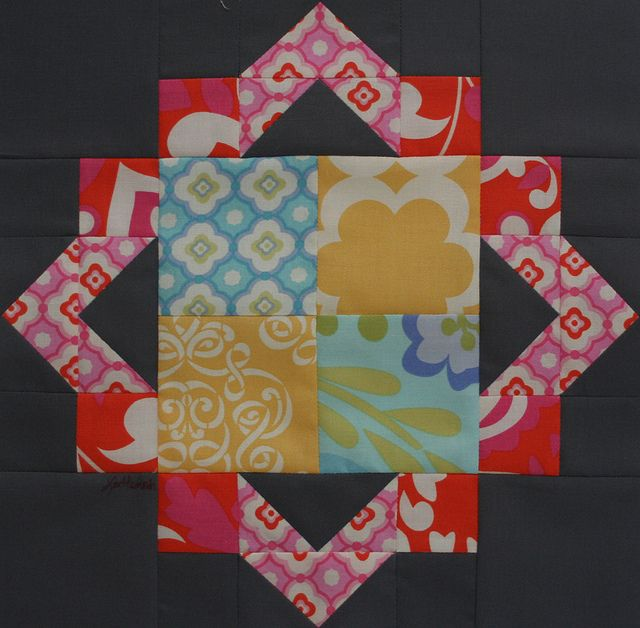Cathedral Square block (from Quiltmaker's 100 Blocks issue) by freshlypieced, via Flickr