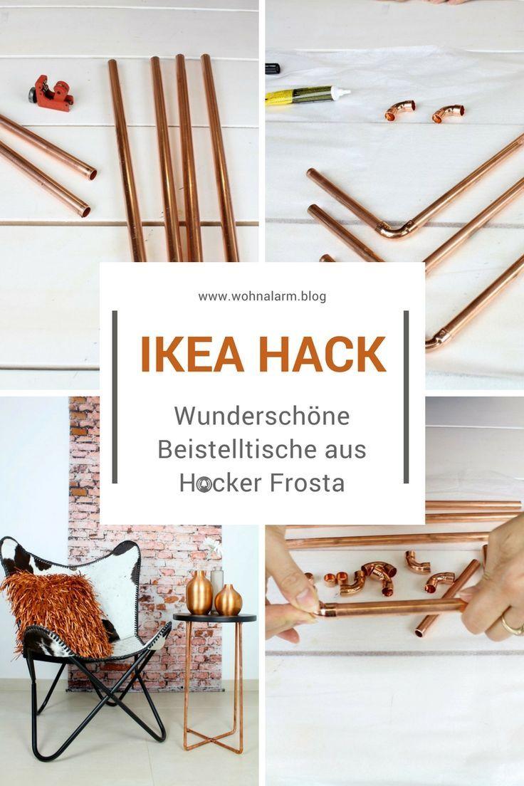 Ikea-Hack: Wunderschöne Beistelltische aus dem Hocker Frosta