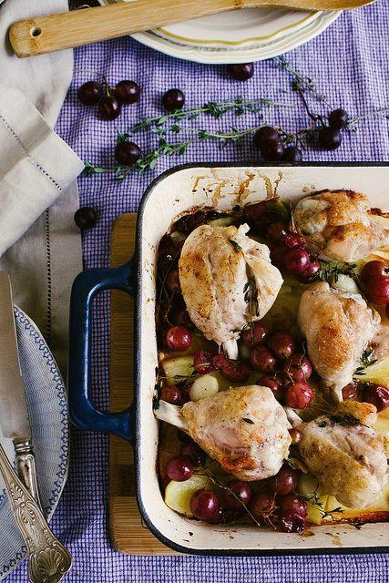 Chicken and Grape bake
