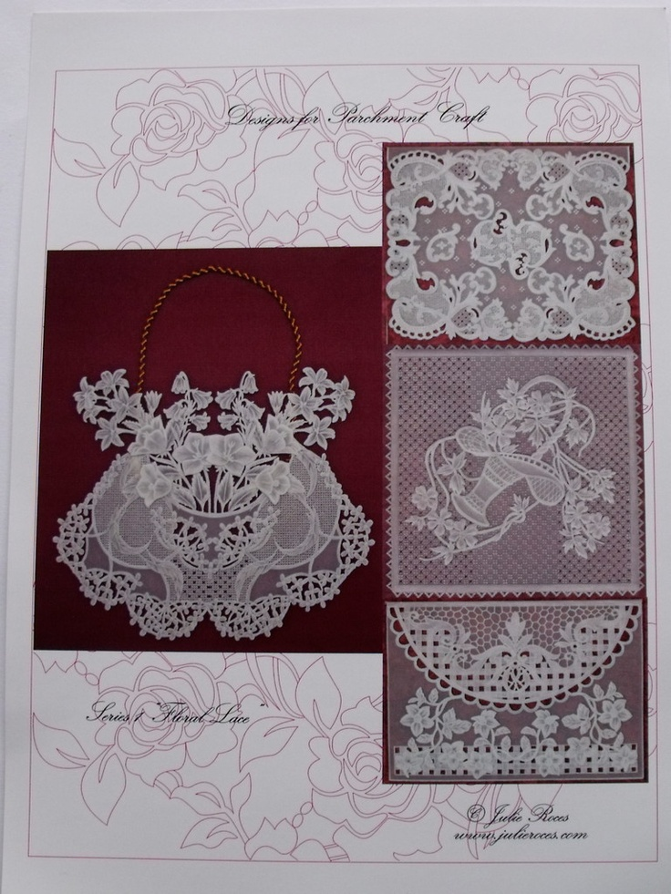 FLORAL LACE BY JULIE ROCES      Four floral lace designs, patterns and instructions included.