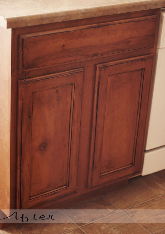 I'm thinking of glazing my cabinets. I still haven't gotten them installed in the bathrooms though. I'm just nor sure I like the plain stain I used.