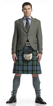 Image result for jackets for campbell tartan kilt