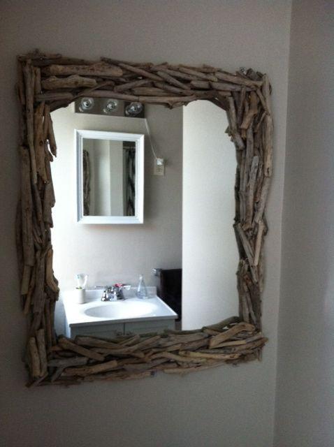 Miroir Bois Flotte Casa : Miroir en bois flott?, Miroir and Bricolage on Pinterest