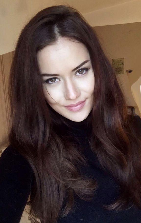Fahriye Evcen Haarfarben Ideen Haar Styling Kastanienbraunes Haar