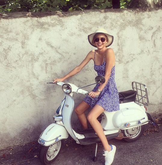 Share Vespa and nude girl agree
