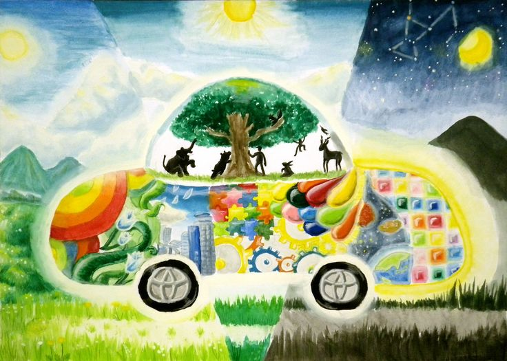 Future Natural Design Car - Honomi Takahashi | Toyota Dream Car Art Contest