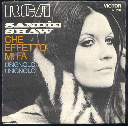 """Sandie Shaw (45 giri Italia) """"Che effetto mi fa"""""""