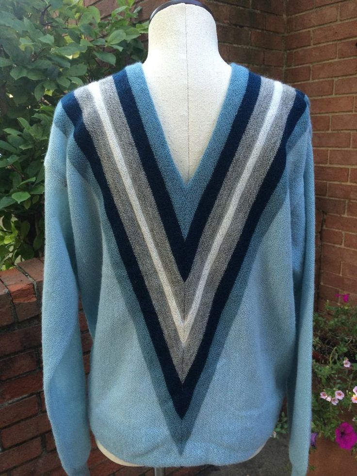 Vintage Italian Pure Alpaca Knit V Neck Sweater By Damon