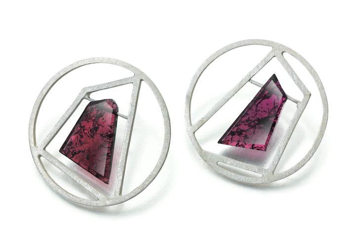 Stud Earrings - Janice Zethraeus - Jewellery Designer Maker- The Garnets!!