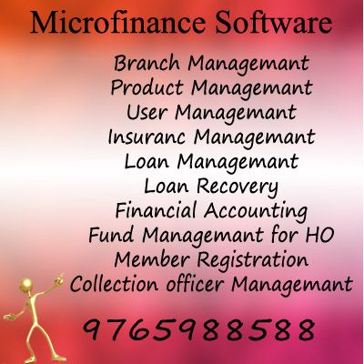 Microfinance Software's innovative design is flexible, user friendly and features a very high level automation. This gives the MFIs the flexibility and capability to deliver excellent customer service and operate very efficiently with a minimum number of staff.   It is a web-based, module-driven, system specifically for Micro-Finance Institutions (MFIs).
