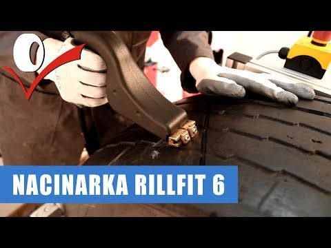 Nacinarka do opon Rillfit 6, nacinanie i pogłębianie bieżnika - YouTube