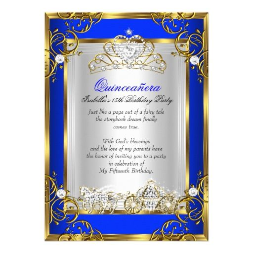 17 Best images about Quinceanera Birthday Party Invitations on – Invitation Birthday Party Card