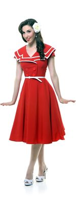 SALE! Red Captain 1940s Swing Dress  http://www.vintagedancer.com/1940s/1940s-womens-clothes/