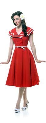 SALE! Red Captain 1940s Swing Dress http://www.vintagedancer.com/1940s/1940s-womens-clothes/