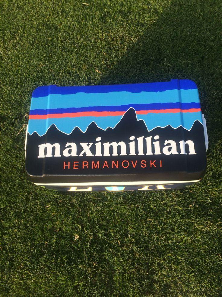 Patagonia cooler #fraternity #cooler #frat #formalcooler #paintedcooler #fratcooler #fraternitycooler #patagoniacooler #Patagonia