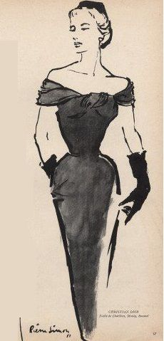 1951 - Christian Dior cocktail dress by Pierre Simon