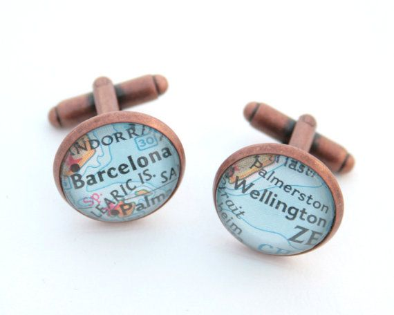 Rush Gifts Custom Map Location Copper Cuff by KfiatekGiftedHands