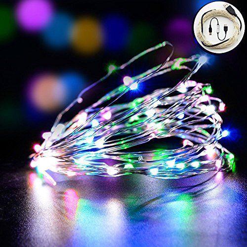 Yakamoz RGB USB Cuivre Guirlande Lumineuse LED Lumière étoilée Rouge Vert Bleu Lumières Extérieures Chaine, LED Lumières Etanches Corde ,…