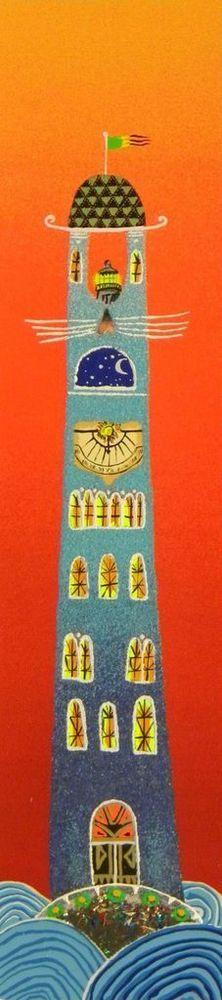 MELONISKY DA VILLACIDRO - ( PALAZZO FIABESCO ) - serigrafia retouchè - 15x50 cm