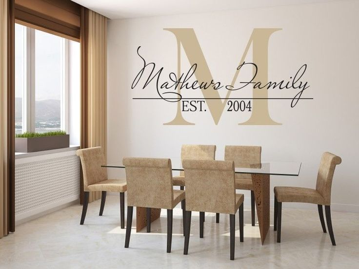 Best Living Room Wall Images On Pinterest - Custom vinyl wall decals for dining room