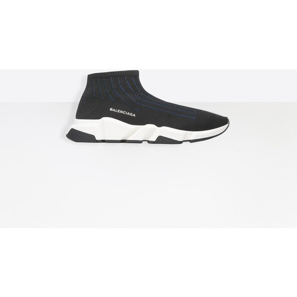 Balenciaga Speed Trainer ($695) ❤ liked on Polyvore featuring men's fashion, men's shoes, men's sneakers, man shoes speed shoes, balenciaga mens sneakers and balenciaga mens shoes