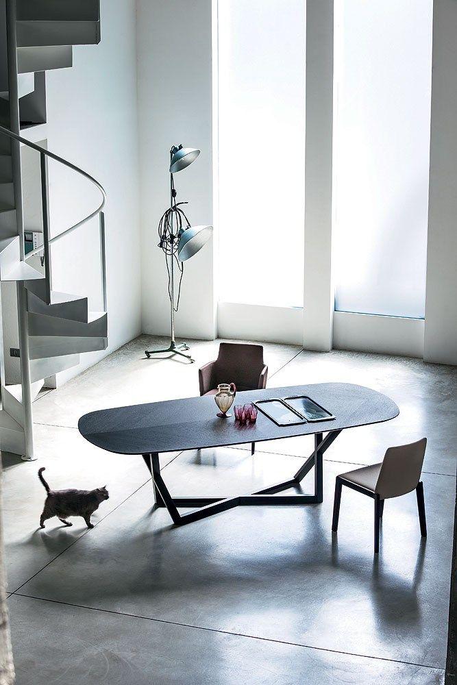 table de salon en bois bridget table en bois bross italia - Model Dedecoration Desalon Moderne