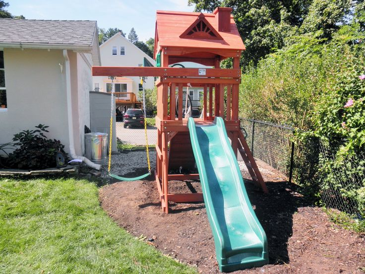Modification of swingset for small yards