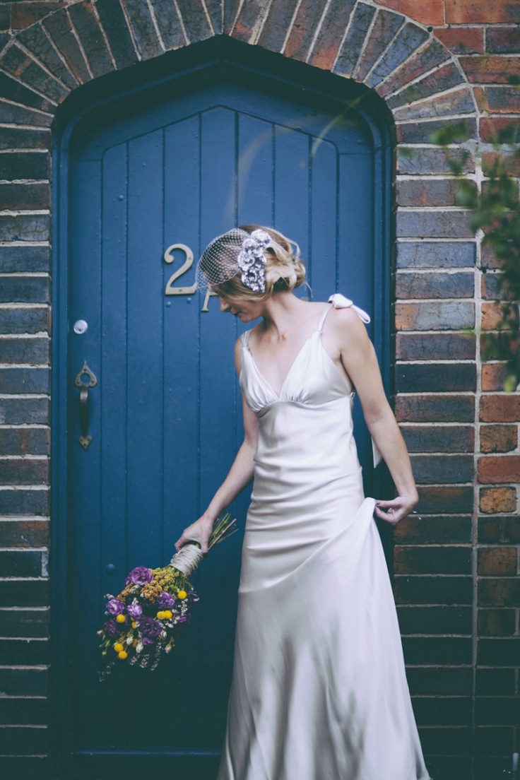 Gorgeous Bouquet With Twine And Great Backdrop The Blue Door I Got You Wedding Photography