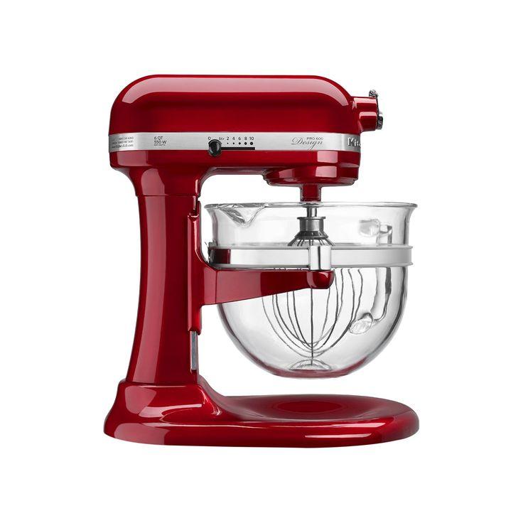 KitchenAid Professional 600 Design Series 6-Quart Bowl-Lift Stand Mixer - KF26M22, Red