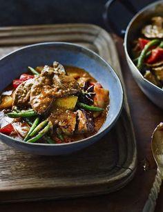 Massaman duck curry that has huge depths of flavour. Serves 4.