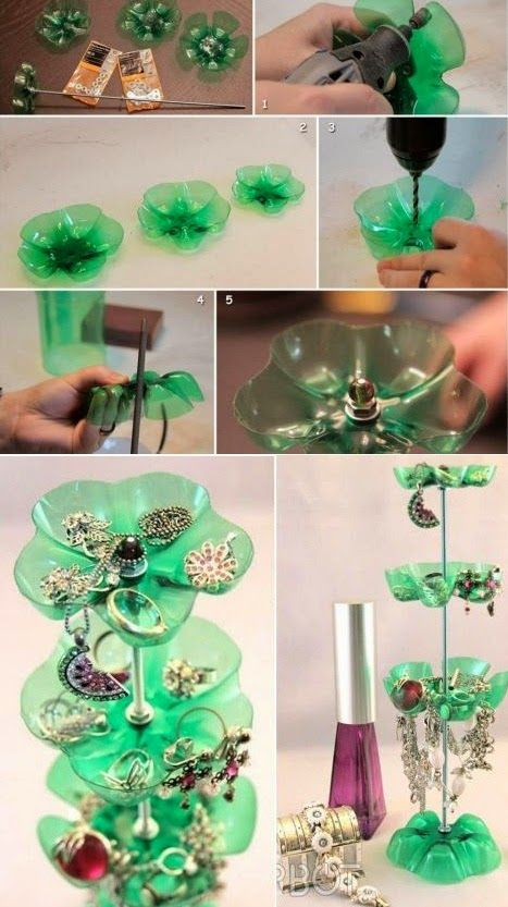 Diy Plastic Bottle Jewelry Stand Make Life Simple