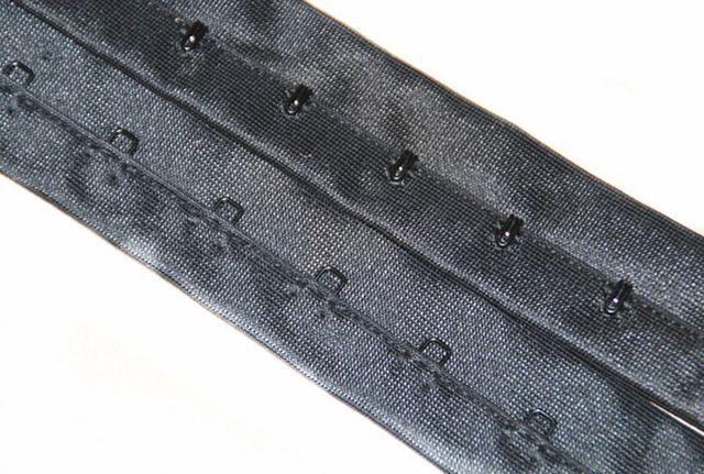 2yards Bra Extenders Black Ribbon Bra Clips Shaper Hook & Eye Tape Bra Clothes Accessories WB56