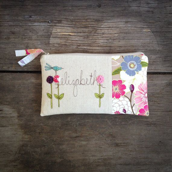 Personalized Bridesmaid Gift Bridesmaid Clutch by MamaBleuDesigns