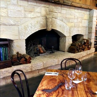 Bendooley Estate fireplace in dining room Berrima Southern Highlands NSW