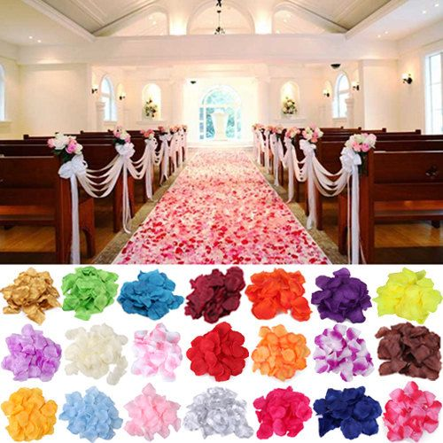 500 Pieces - SILK FABRIC Rose Petals 22 Colors, Create Your Choice    *** Slight Color Variations may Occur Due To Different Monitor Setting & Resolution