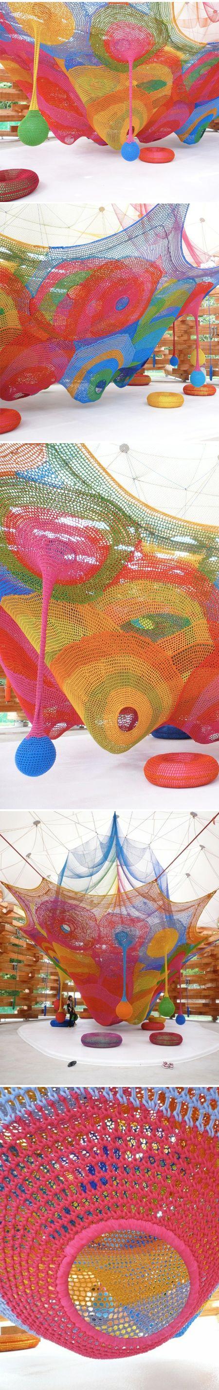 toshiko horiuchi macadam - installation at an open air art gallery in japan <3