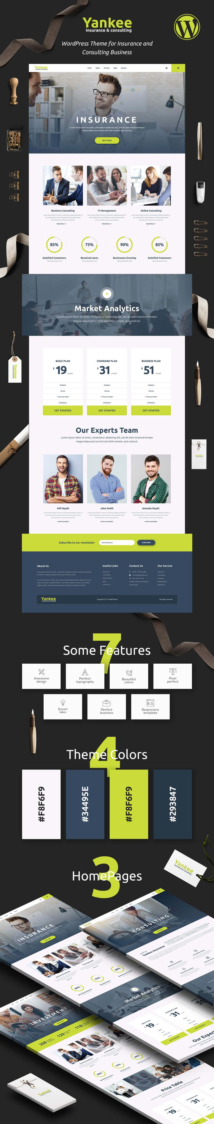 Yankee - Insurance & Consulting WordPress Theme by modeltheme | ThemeForest