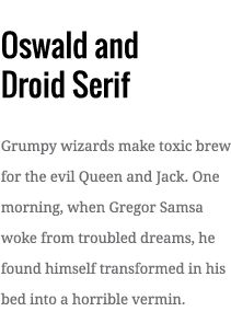 Oswald and Droid Serif - Fooont.com